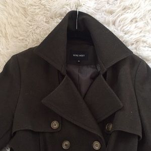 Nine West Wool Military Trench Coat